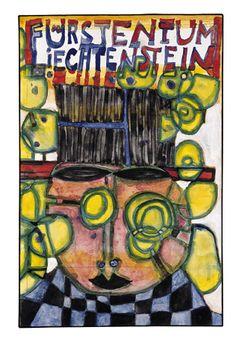 Paintings - Hundertwasser Friedensreich Hundertwasser, Organic Form, Paintings, Colours, Artist, Inspiration, Figurine, Biblical Inspiration, Paint