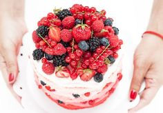 pink ombre berry cake