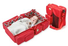 Diaper bag that converts into bassinet. Baby not included ;)