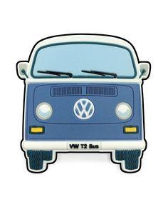 VW T2 Bay Window Bus Magnet - Front End Blue  #VW #bus #coolvwstuff #Volkswagen
