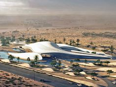Zaha Hadid's LEED Platinum-seeking Bee'ah headquarters will be powered by renewable energy Broad Art Museum, Waste To Energy, Solar Energy For Home, Zaha Hadid Architects, Santiago Calatrava, Futuristic Architecture, Green Building, Sustainable Design, Renewable Energy