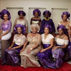 "The Asoebi Fashion in Nigeria. Nigerian Fashion is becoming more and more popular around the world and has now well and truly earned its place in the global fashion industry. Aso ebi translated to English means ""family Cloth"". The Aso ebi fashion in Nigeria is a cultural trend which involves outfits made from matching fabrics worn by a group of people for parties and events. Click on the link to read more, to see the photo gallery and a film showcasing the Aso ebi styles of a Nigerian…"