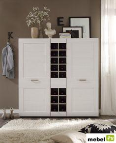 Komoda z półkami na wino LANUS - sklep meblowy Tall Cabinet Storage, Locker Storage, Living Room Carpet, Lockers, Carpet Ideas, Closet, Furniture, Home Decor, Living Room