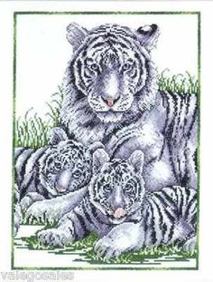 Design Works Counted #crossstitch  White Tigers #DIY #crafts #decor #needlework #crossstitching #gift