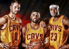 Kevin Love ... Kyrie Irving And The King ... LeBron James ...