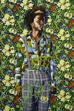 """ifiwereblue: """"Kehinde Wiley is already a big art world star. He's the South Central LA kid who became the darling of the hip-hop scene, with A-list celebrities queuing up to be painted by him; African American Art, American Artists, Kehinde Wiley, Afrique Art, A Level Art, Wow Art, Black Artists, Contemporary Paintings, Contemporary African Art"""