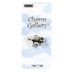 Charm Gallery® Silver Plated Charm, Cat with Yarn #bookmark