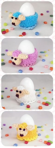 Easter egg basket Egg holder Easter decor basket stuffers Easter gift easter egg cup crochet #Sheep #Easter #cozy #decor table decor