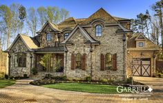 Mon Chateau House Plan # 07386, Front Elevation, Master Down House Plans, European Style House Plans