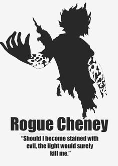 "Rogue Cheney - Fairy Tail<<< is it bad that I thought ""Yeah Light Yagami kills evil people. Duh."""