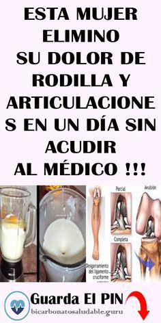 ESTA MUJER ELIMINO SU DOLOR DE RODILLA Y ARTICULACIONES EN UN DÍA SIN ACUDIR AL MÉDICO !!! #DOLOR #ARTICULACIONES #RODILLA #remedios Remedies, Health Fitness, Soap, Personal Care, Buckets, Medicine, Tips, Knee Pain, Arthritis