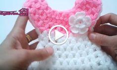 Elbise Lif Yapılışı Videolu Anlatım Crochet For Kids, Crochet Baby, Crochet Crocodile Stitch, Woolen Craft, Diy Crafts Crochet, Polymer Clay Christmas, Crochet Triangle, Booties Crochet, Crochet Videos