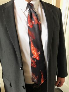 These gorgeous carp swam towards me in a pond at the Imperial Palace in Hue, Vietnam. I knew I had to create a tie. What guy doesn't want a fish tie? Imperial Palace, Pink Peonies, Carp, Hue, Blush Pink, Pond, Vietnam, Shop Now, Swimming