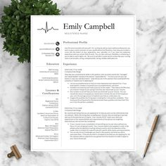 Nurse Resume Template for Word & Pages / by LandedDesignStudio