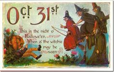 vintage Scottish Halloween card