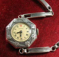 Antique Rolex Sterling Silver Ladies Wristwatch Vintage Estate Jewelry Art Deco | eBay