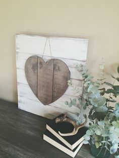 Rustic and Neutral Valentines Day Heart