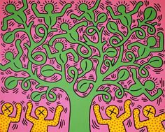 Keith Haring - Tree of Life ,1985                              …                                                                                                                                                     More