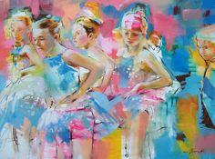 Ballet Dancers. Fine Art by Dimitri Hvidantzevich