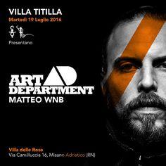 Martedì 19 luglio 2016, la Villa Titilla spezza la routine di Alicante con una nuova proposta musicale. In consolle alla Villa delle Rose, Art Department.