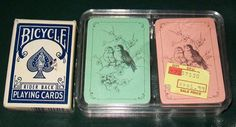 3 Mini Vintage Decks Playing Cards Bicycle Birds 2 sets are sealed | Collectibles, Paper, Playing Cards | eBay!