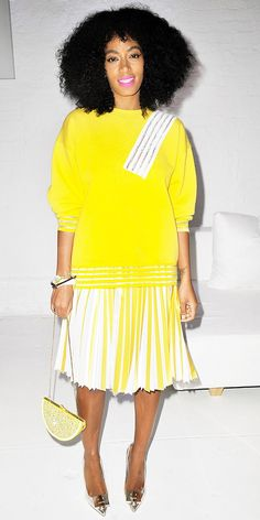 Solange Knowles' Not-So-Mellow-Yellow Style - WhoWhatWear.com