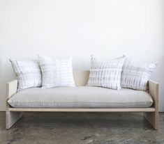 A one-off Judd-inspired daybed from designers Rebecca Atwood and Farrah Sit; for more information, go to A Modern Daybed Sofa, Hand-Dyed Shibori Included.