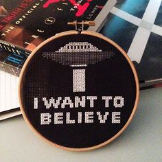 X-Files X-Stitch   KBB Crafts & Stitches --- Easy cross stitch pattern for X-Files fans.