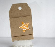add twine behind a diecut - an idea from Sarah Webb from Paper Crafter's Corner