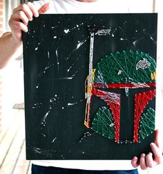 Boba Fett String Art/ Star Wars Inspired String by DistantRealms