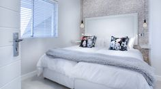 Contemporary White Bedroom Furniture 2020 - Home Comforts All White Bedroom, One Bedroom, Bedroom Ideas, White Wood Bedroom Furniture, Contemporary Bedroom Furniture, Small Bedroom Designs, Home Comforts, Minimalist Bedroom, Minimalist Interior