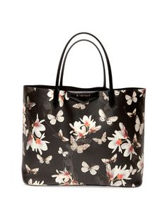 Antigona+Large+Leather+Shopping+Tote,+Magnolia+Print+by+Givenchy+at+Neiman+Marcus.