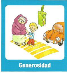 Generosidad, valores para imprimir