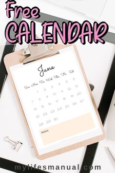 Our FREE Printable Calendar 2020 with notes will help you manage your schedule, important events, occasions and Holidays! Free Monthly Calendar, Calendar June, Printable Calendar 2020, Best Planners, Personal Planners, Goals Planner, Planner Ideas, Planner Organization, Organizing