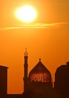 Islamic Art and Quotes  Mosque Silhouette in Dresden, Germany