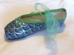 Mermaid's Tail ...  Decorated Pointe Shoe by JazzedUpPointes, $25.00