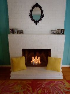 hollywood regency whimsical white fireplace candles