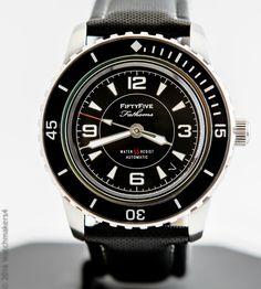 Seiko 5 Automatic SNZH55 Fifty Five Fathoms FFF Blancpain Homage Super Mod Watch 4954628125811   eBay