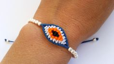 Shop for on Etsy, the place to express your creativity through the buying and selling of handmade and vintage goods. Evil Eye Bracelet, Macrame Bracelets, Braids, Eyes, Unique Jewelry, Handmade Gifts, Vintage, Bracelets, Bang Braids