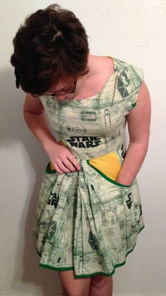 Star Wars Dress With Pockets: Green. $70.00, via Etsy.