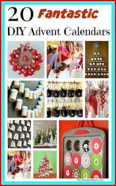 Now is the time to start working on your DIY Advent Calendar! Here are  20 fantastic DIY advent calendars tutorials.|Christmas Crafts | Handmade Christmas