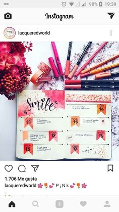 Warm and bright bullet journal spread with self-care message to self Bullet Journal Planner, Bullet Journal Ideas Pages, Bullet Journal Layout, Bullet Journal Inspiration, Journal Pages, Bullet Journals, Kalender Design, Journal Organization, Journal Themes