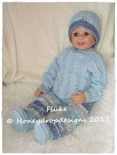 "PAPER KNITTING PATTERN 19-22/"" Reborn Lil Sweetheart Honeydropdesigns"