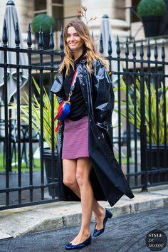 Andreea Diaconu Street Style Street Fashion Streetsnaps by STYLEDUMONDE Street…