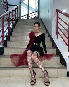 Knee Boots, Dresses With Sleeves, Long Sleeve, Red Velvet Irene, Red Velvet アイリーン, Velvet Style, Seulgi, Bae, Korean Girl Groups