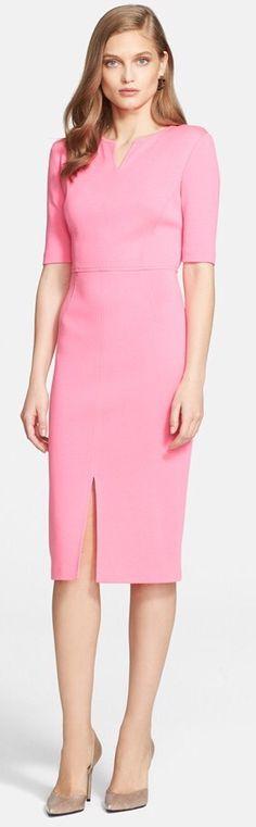 St. John Collection   Milano Knit V-Neck Dress   Spring 2015  Potential ESSENCIAL