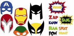 svg file - superhero masks
