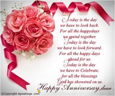 share this lovely and romantic first anniversary card with your