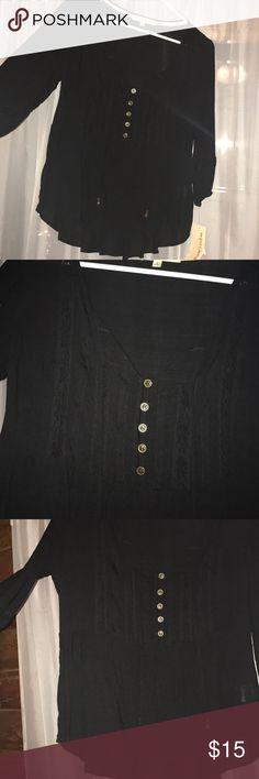 Black flowy blouse Brand new Tops Blouses