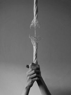 Frayed rope hanging by a thread Hand Photography, Conceptual Photography, Creative Photography, White Photography, Surrealism Photography, Contrast Photography, Dark Art Illustrations, Illustration Art, Hand Fotografie